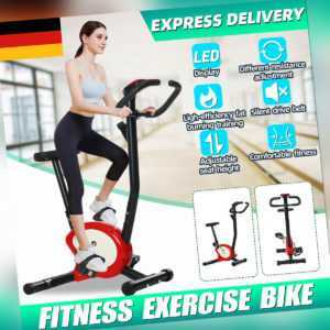 Heimtrainer Trimmrad Fitnessbike LED Anzeige Fitnessfahrrad Gym Hometrainer