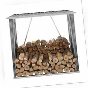 Brennholzlager Holzlager Kaminholzregal Holzunterstand Verzinkter Stahl Grau