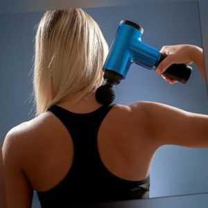 Elektrisch Massagepistole Muskel Entspannung Gun Massagegerät mit 4 köpfen