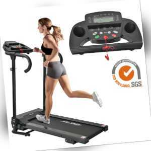 Laufband Elektrisch LCD Display Treadmill Fitnessgerät Jogging Heimtrainer