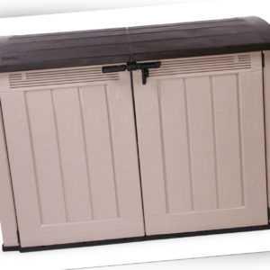 Ondis24 Keter Fahrradbox Ultra XXL Aufbewahrungsbox Mülltonnenbox Gerätebox