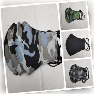Camouflage Mundschutzmaske - 100% Baumwolle - Atemschutz Gesichtsmaske waschbar