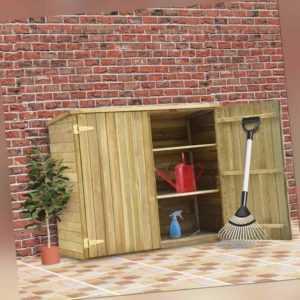 vidaXL Holz Imprägniert Geräteschuppen Gerätehaus Gartenschrank Geräteschrank