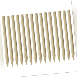 15x Zaunpfähle Holz Angespitzte Zaunpfosten Holzpfosten 170cm Massivholz Fosten