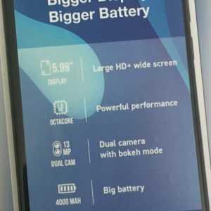 Wiko Y80 Anthracite Blau RÜCKLÄUFER LTE 13Mp 2GB + 16GB