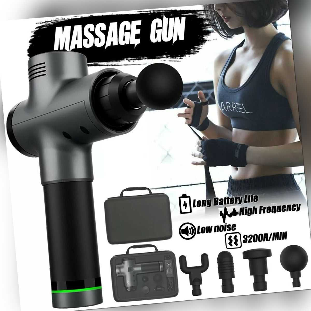 Profi Muskel Massager Gun Massagegerät LCD Elektrisches Massagepistole