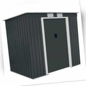 B-Ware Gartenhaus Gerätehaus Schuppen Geräteschuppen Pultdach 213×130×173cm Grau