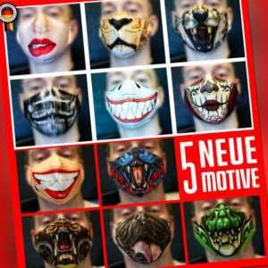 Maske Gesichtsmaske Lustig Verschiedene Motive Wiederverwendbar