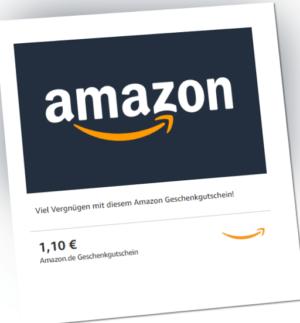 1,10€ Amazon Gutschein Gutscheincode Einkaufsgutschein