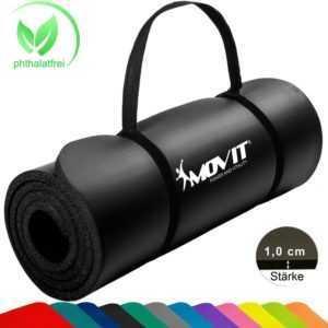 MOVIT Yogamatte Gymnastikmatte Fitnessmatte Turnmatte Sportmatte PHTHALATFREI