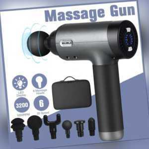Massagegerät Gun Electric Massage Massagepistole Massager Muscle mit 6 Köpfe DE
