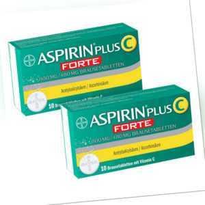 Aspirin plus C forte 800 mg/480 mg Brausetabletten 2x10stk PZN 08100038