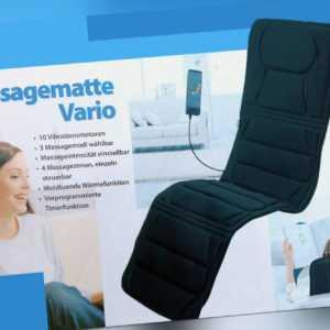 Massagematte, Vario de Luxe, Massageauflage Vibrationsmatte De Luxe, B-Ware