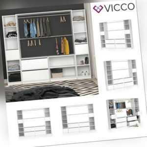 VICCO Kleiderschrank VISIT XXXL offen begehbar Regal Kleiderständer Schrank