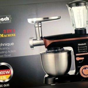 Küchenmaschine Rührmaschine Knetmaschine Teigkneter 3in1 6,5L...
