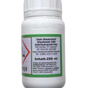 Glyphosat 1x 250 ml Unkrautvernichter Dein Bauernhof Glyfosat 360 k. Sachkunde