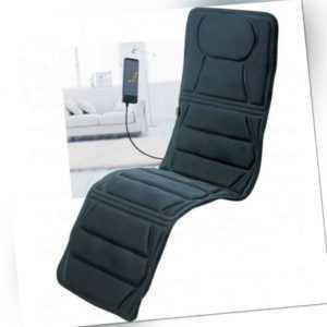 Massagematte + Wärmefunktion elektrisch Ganzkörper mit Vibrationsmassage schwarz