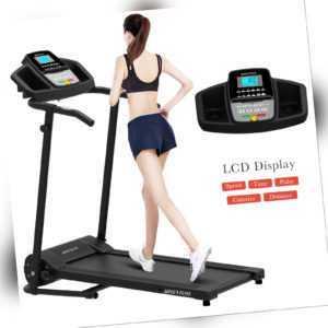 Laufband Heimtrainer Fitnessgerät elektrisch mit LCD Display Jogging klappbar