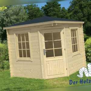 28 mm Gartenhaus 250x250 cm Blockhaus Gerätehaus Holzhaus Holz Schuppen