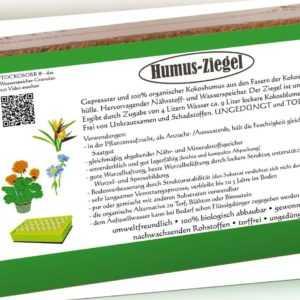 12 x 650g Humusziegel Kokoserde Blumenerde Substrat für Hochbeet und Blumentopf