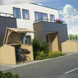Bikebox ca. 200x150 cm Schuppen Geräteschuppen Fahrradschuppen Holzhaus Holz