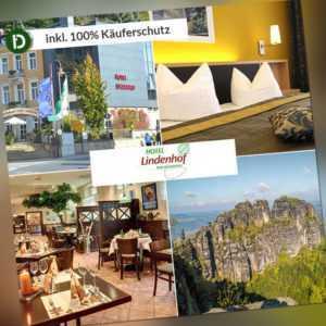 4 Tage Urlaub in Bad Schandau Sächsische Schweiz Hotel Lindenhof mit Halbpension