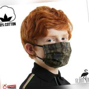 Kinder Masken Behelfs-Mundschutz Gesichtsmaske Stoffmaske 100% Baumwolle