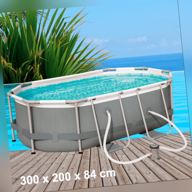 Bestway Power Steel 300x200x84cm Pool Set mit Filterpumpe Gartenpool 56617-19/20