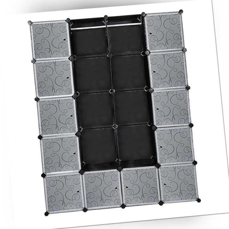 Regalsystem Kleiderschrank Steckregal Garderobe 20 Würfel mit Türen DIY