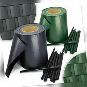 PVC Sichtschutz Streifen Privatsphäre Doppelstabmatten Zaun Folie Anthrazit Grün