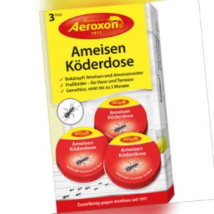 Aeroxon Ameisengift Ameisenköder Ameisen-Köderdosen 3x Ameisenschutz