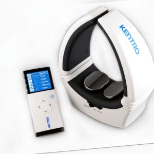 Elektrischer Nackenmasseur Nackenmassage kabellos Infrarot Wärme 4 Funktionen