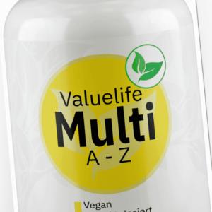 Valuelife Multivitamin A-Z mit 24 Vitaminen, Mineralstoffen & Spurenelementen