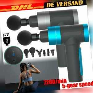 Elektrisch Massagepistole Muskel Entspannung Gun Massagegerät Massageköpfen