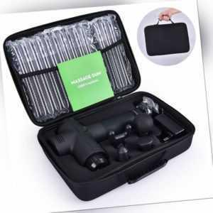 Profi Muskel Massager Gun Massagegerät Elektrisches Massagepistole 4 Köpfe sport