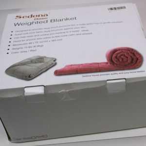 Sedona Kuscheldecke mit Gewicht 6.8kg weinrot 122x183cm gefüllt