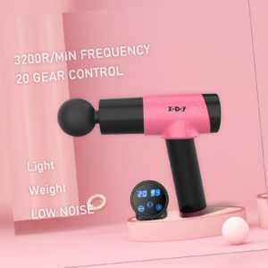 XGODY Muskel Massager Gun Massagegerät Elektrisches Massagepistole + 6 Köpfe DE