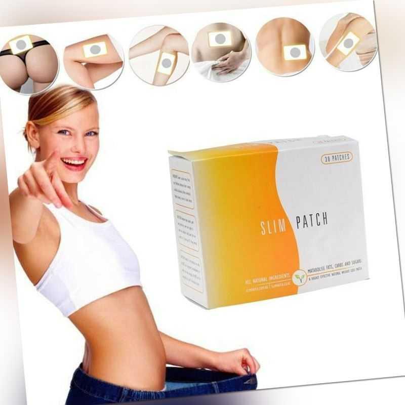 30 Diätpflaster Slimming Patch Abnehm Pflaster Fettverbrennung Schlank Abnehmen