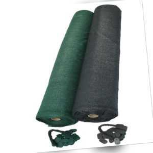 Schattiergewebe Zaunblende Tennis Sichtschutz Schutznetz Bauzaun grün anthrazit