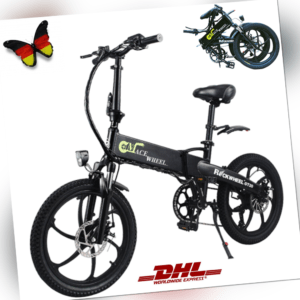 20″ Klapprad Pedelec E-Bike 48V 350W Elektrofaltrad Fahrrad 7-Gang Shimano DHL