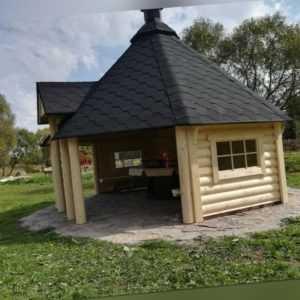 Grill Grillkota Pavillon Gartenhaus Grillhütte Kota Grillhaus Holz, 45mm 383871