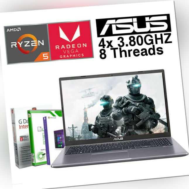 "15.6"" FULL HD Gamer ASUS Laptop Ryzen 5 8GB DDR4 - 512GB SSD Windows 10 Notebook"