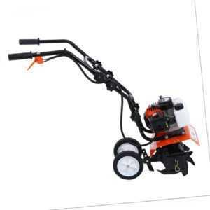 2-Takt Kultivator Benzin Gartenhacke Motorhacke Bodenfräse Fräse Hacke 1650W