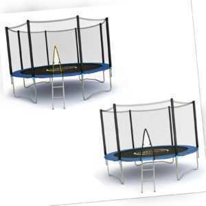 Gartentrampolin 2,44 - 4,57 Trampolin Komplettset mit Netz und Leiter Zubehör