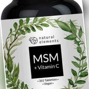 MSM mit natürlichem Vitamin C - Einführungspreis - 365 vegane Tabletten - 2