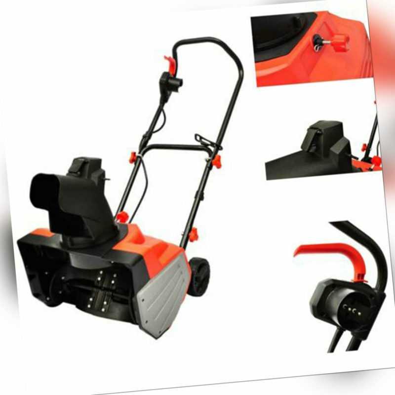 2000W Elektro Schneefräse Schneeschieber Gartenmaschine Schneeräumgerät Schwarz