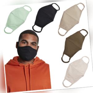 Build your Brand Cotton Face Mask 2-Pack Maske Mund und Nasen Schutz Gesicht 2er