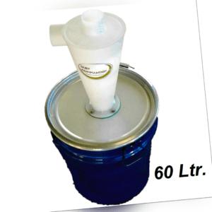 Original Dust Commander Zyklon Staubabscheider/Behälter 60 Liter Deckelfass NEU