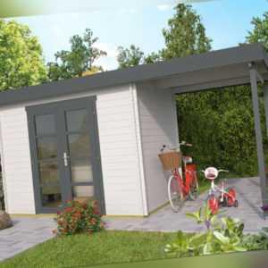 28 mm Gartenhaus + Anbau 500x200 cm Blockhaus Holzhaus Gerätehaus Unterstand