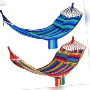Hängematte Stabhängematte Hängestuhl Länge 210 x 150 cm Farbe wählbar
